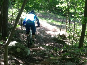Trying out the new Dakota Drop ride around at Launch Bike Park.
