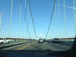 Crossing the Walt Whitman into Pennsylvania.