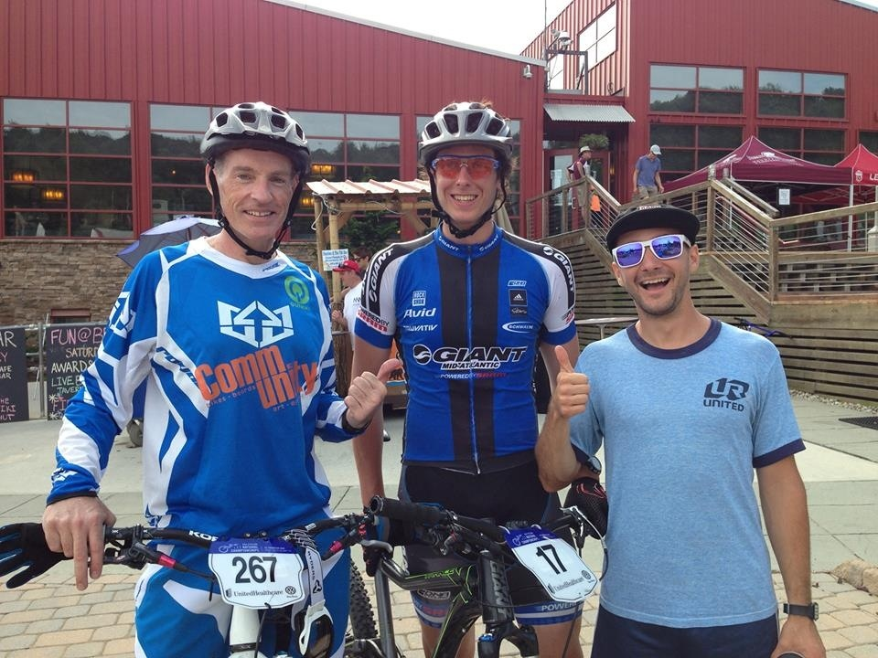 Me, Seamus Powell and Matt Miller after the 2013 USAC Nationals at Bear Creek.