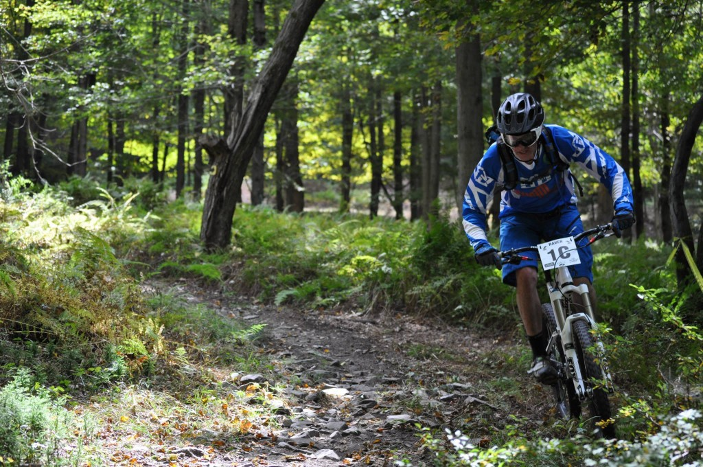 On course during the Raven Enduro.