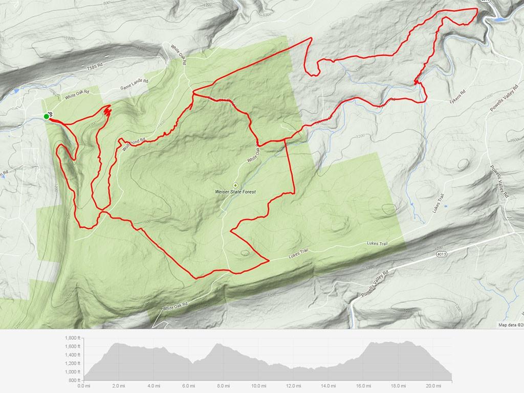 Rattling Creek Enduro Route Map
