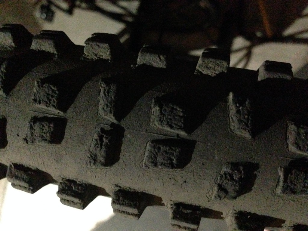 This rear tire has seen better days!